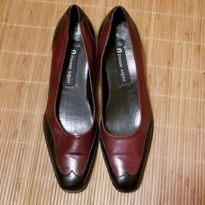 "Etienne Aigner ""Annalee"" Chunky Low Heel Shoes"
